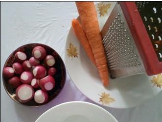 редис и морковь для салата