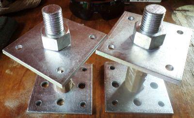 металлические крепления для свай