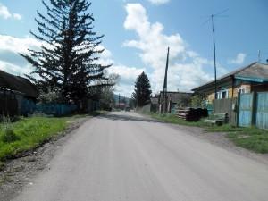 Ровный асфальт в деревне Лукино