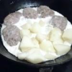 с картошкой со сметаной