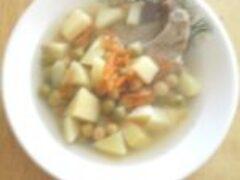 Гороховый суп полезный из своего гороха с огорода