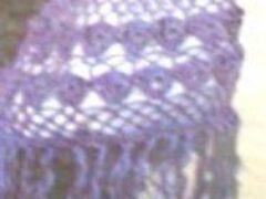 Описание сумочки крючком в тон пелерины из таких же ниток