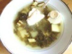 Суп со щавелем — витамины с наших грядок