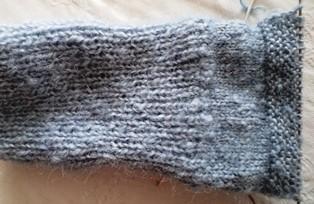 вязание голени носка