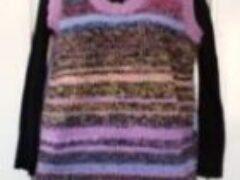 Жилет женский вязание спицами из сложения разных нитей