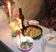 ужин дома