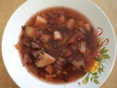 Суп фасолевый без мяса с овощами весной в марте