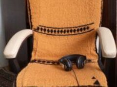 Чехлы на кресла авто и компьютерное сделала сама