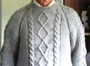 Вязание мужского свитера спицами рукав реглан